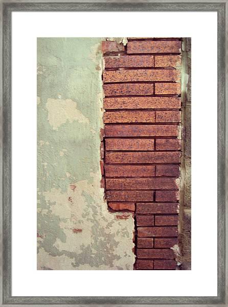 Brick Wall Framed Print by Cynthia Harvey