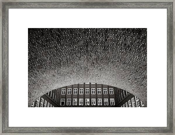 Brick World Framed Print
