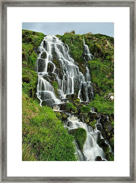 Bride's Veil Waterfall Framed Print