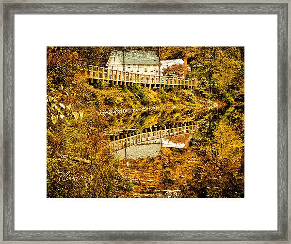 Bridge At C'ville Framed Print