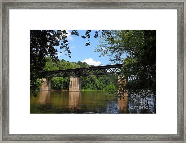 Bridge Crossing The Potomac River Framed Print