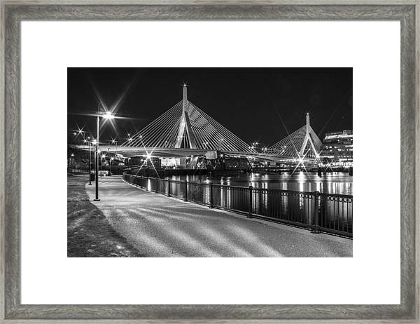 Bridge In Boston Framed Print