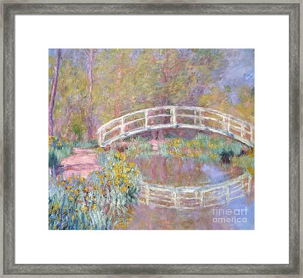 Bridge In Monet's Garden Framed Print
