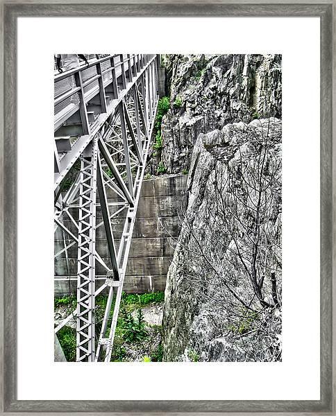 Bridge In Vermont Framed Print