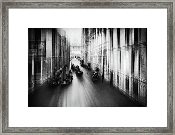 Bridge Of Sighs Framed Print by Roswitha Schleicher-schwarz