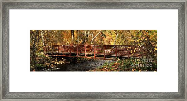 Bridge On Big Chico Creek Framed Print