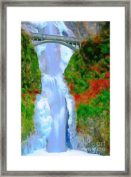 Bridge Over Beautiful Water Framed Print