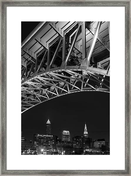 Bridge Over Cleveland  Framed Print