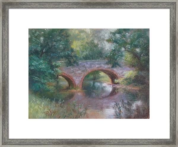 Bridge Over Cocalico Creek Framed Print