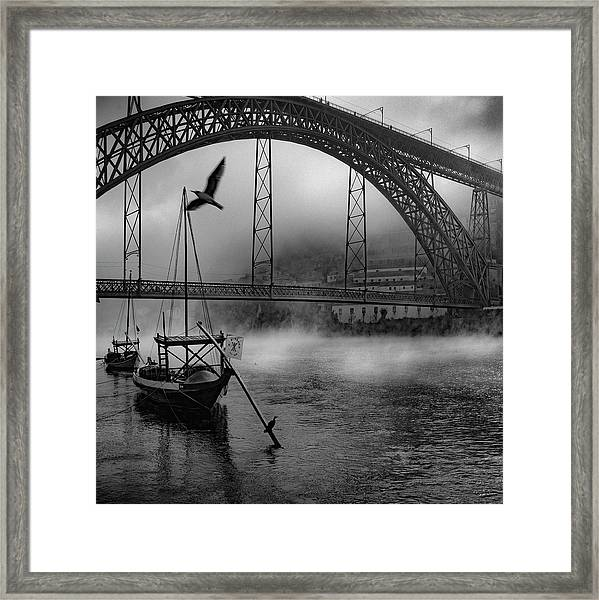 Bridge Over Douro Framed Print by Fernando Jorge Gon?alves