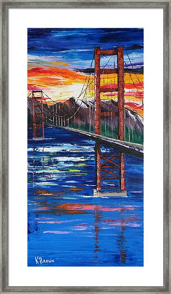 Bridge Over Ocean Framed Print
