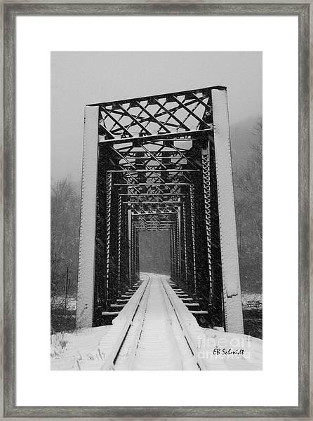 Bridge Over Oil Creek Framed Print
