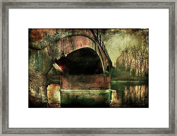 Bridge Over The Canal Framed Print