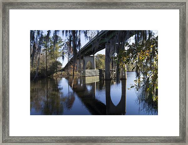 Bridge Over The Waccamaw On An Autumn Afternoon Framed Print