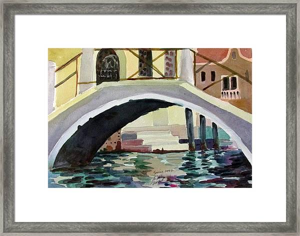 Bridge Reflections Venice Framed Print