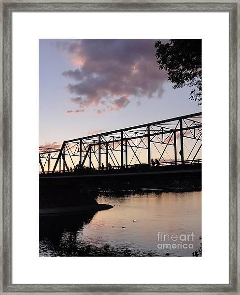 Bridge Scenes August - 1 Framed Print