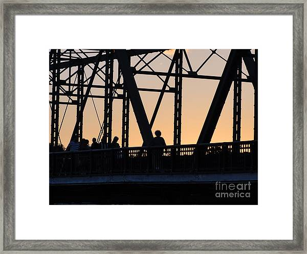 Bridge Scenes August - 2 Framed Print