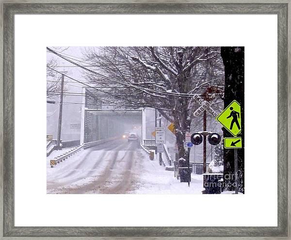 Bridge Street To New Hope Framed Print