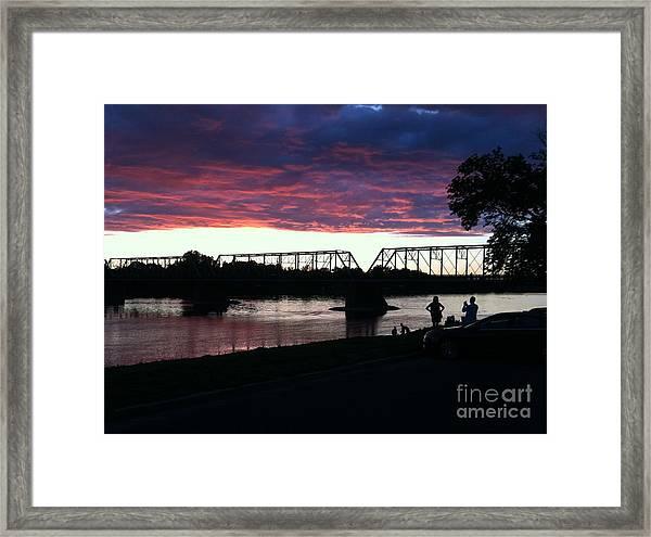 Bridge Sunset In June Framed Print