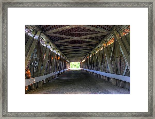 Bridge To Green Framed Print