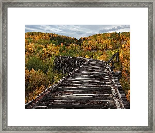 Bridge To Nowhere... Framed Print by Doug Roane