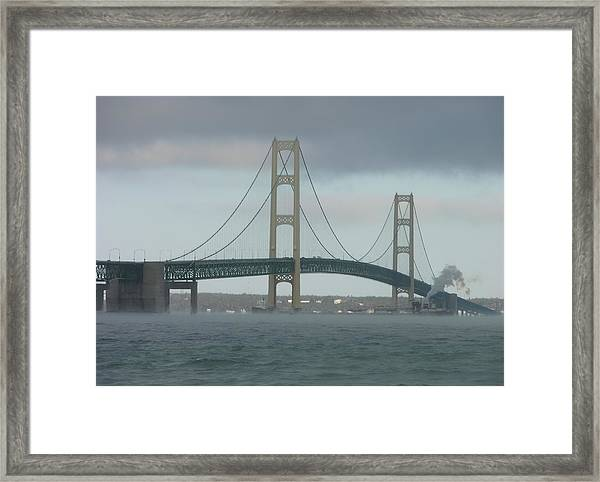 Bridge With Haze Framed Print