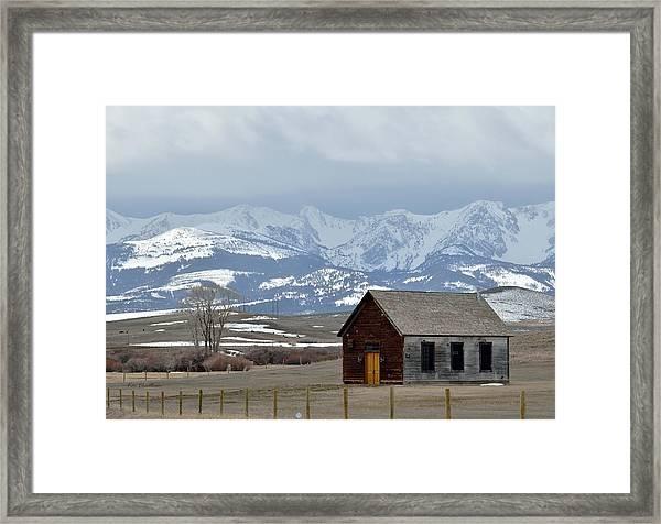 Bridger Background Framed Print
