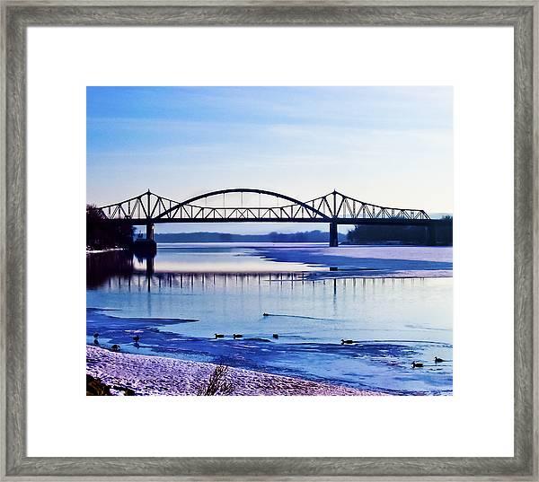 Bridges Over The Mississippi Framed Print