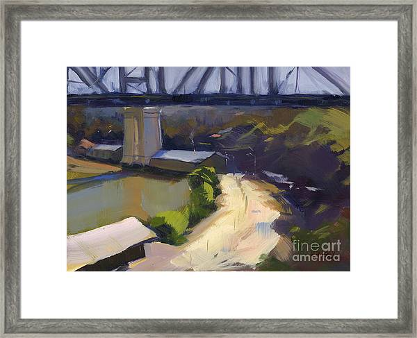 Bridging Gaps After Colley Whisson Framed Print