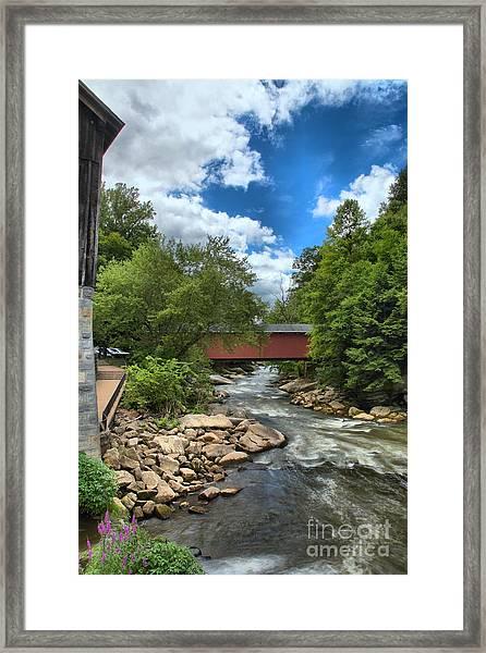 Bridging Slippery Rock Creek Framed Print
