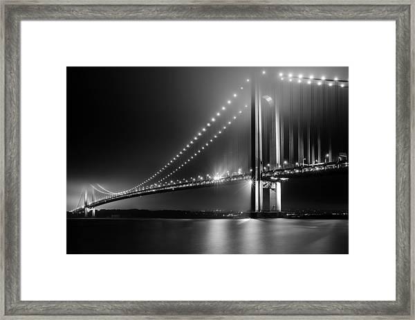 Bridging Verrazano Narrows Framed Print