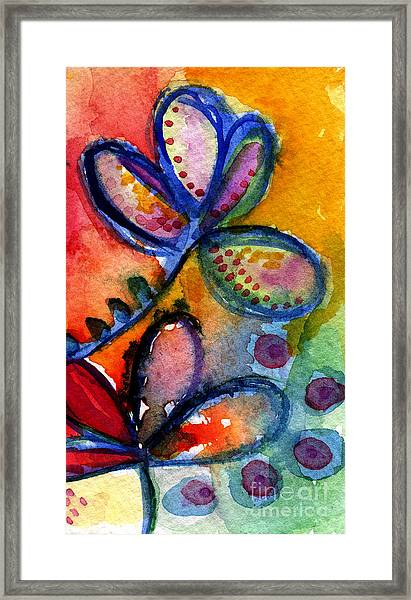 Bright Abstract Flowers Framed Print