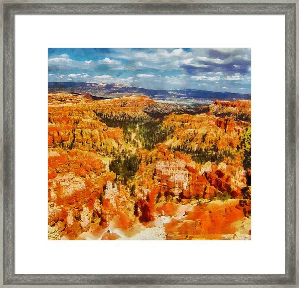Bright Bryce Canyon Framed Print