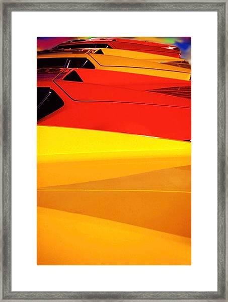 Bright Color Ferrari's Framed Print