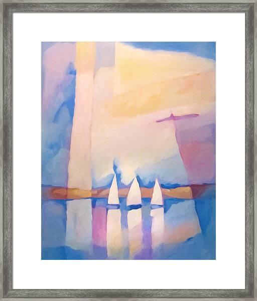Bright Day At Sea Framed Print by Lutz Baar