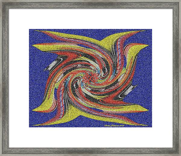 Bright Flight Tile Framed Print
