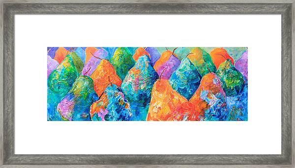 Bright Pears Framed Print