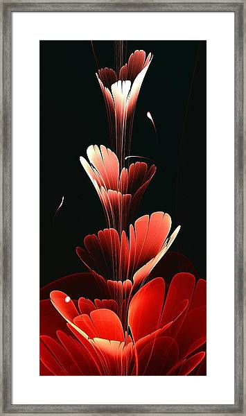 Bright Red Framed Print