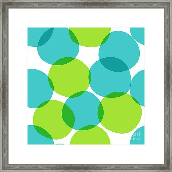 Bright Seamless Pattern With Circles Framed Print by Yanakotina