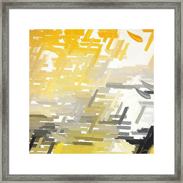 Bright Slashes Framed Print
