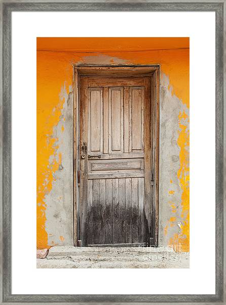 Brightly Colored Door And Wall Framed Print