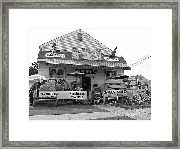 Brighton Beach Surf Shop Framed Print
