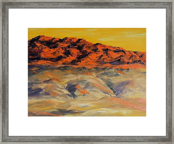 Brilliant Montana Mountains And Foothills Framed Print