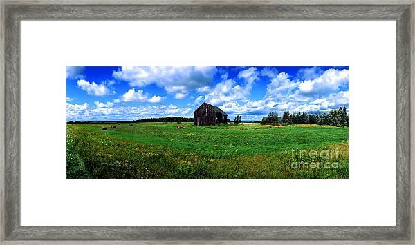 Brimley Farm Near  Sault Ste Marie Michigan  Framed Print