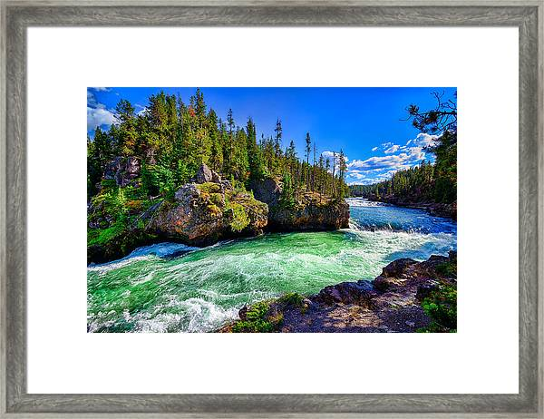Brink Of Upper Falls Framed Print