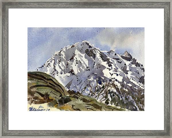Bristenstock Mtn Framed Print