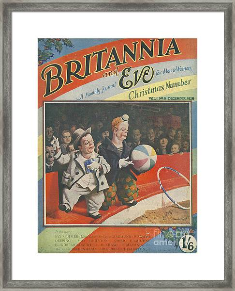 Britannia & Eve 1929 1920s Uk Dwarves Framed Print by The Advertising Archives