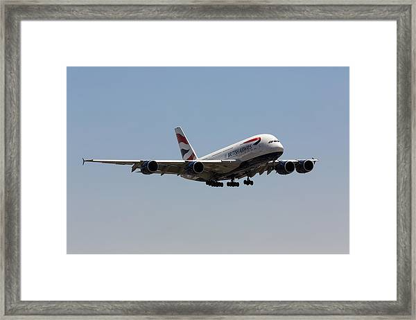 British Airways A380 Framed Print