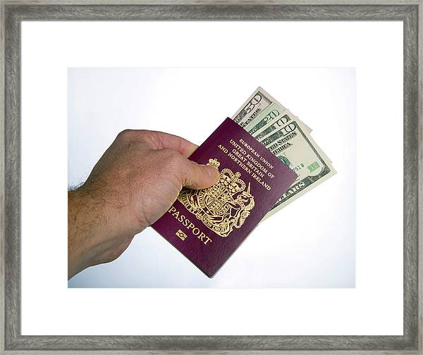 British Passport Framed Print