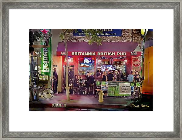 British Pub Framed Print